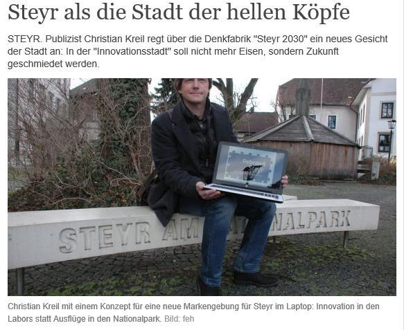 Bericht in den OÖ Nachrichten vom 13. Jänner 2016.